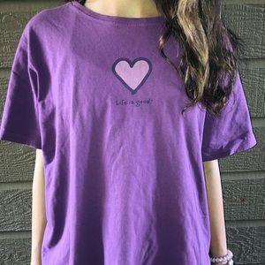 purple life is good t-shirt!!!
